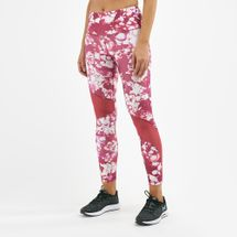 Under Armour Women's HeatGear® Armour Ankle Crop Print Leggings Pink