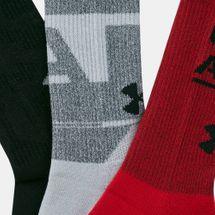 Under Armour Men's Phenom Novelty Crew Socks (3 Pack), 1677374