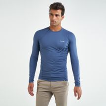 Columbia Men's Midweight Stretch Long Sleeve T-Shirt Blue