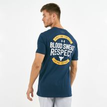 Under Armour Men's x Project Rock Blood Sweat Respect T-Shirt