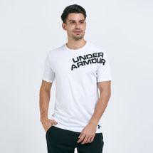 Under Armour Men's Wordmark Shoulder T-Shirt