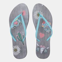 Reef Women's Escape Lux Print Flip Flops Multi