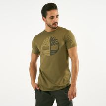 Timberland Men's Kennebec River Large Silicone Tree Slim T-Shirt