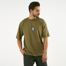 Timberland Men's Back Linear T-Shirt Green