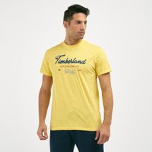Timberland Men's Men's Script Logo Graphic T-Shirt
