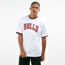 New Era Men's NBA Chicago Bulls Tipping Wordmark T-Shirt