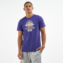 New Era Men's NBA Los Angeles Lakers Net Logo T-Shirt