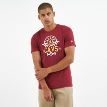 New Era Men's NBA Cleveland Cavaliers Net Logo T-Shirt