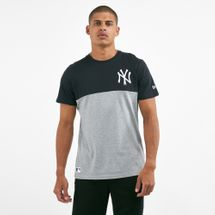 New Era Men's MLB New York Yankees Colour Block T-Shirt Grey