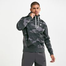 Nike Men's Sportswear Camo Club Fleece Hoodie