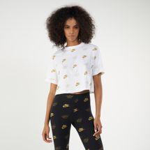 Nike Women's Sportswear Shine Cropped T-shirt