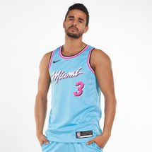 Nike Men's NBA Dwayne Wade Miami Heat City Edition Swingman Jersey