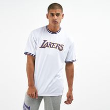 New Era Men's NBA Los Angeles Lakers Tipping Wordmark T-Shirt