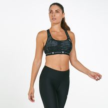 Under Armour Women's Project Rock Armour Mid Printed Crossback Sports Bra