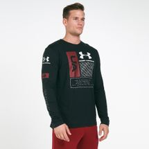 Under Armour Men's Multi Logo Long Sleeves T-Shirt