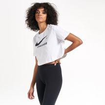 Nike Women's Sportswear Swoosh Logo Cropped T-Shirt