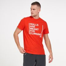The North Face Men's Walls Are For Climbing T-Shirt