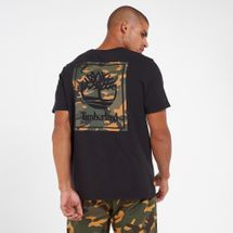 Timberland Men's Camo Tree Logo T-Shirt