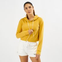 Squat Wolf She-Wolf Crop Hoodie Yellow