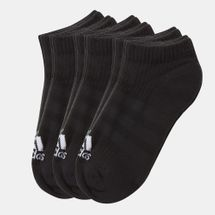 adidas 3-Stripes No Show Socks 6 Pair Black