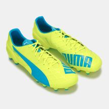 PUMA evoSPEED 1.4 Firm Ground Football Shoe - Yellow, 191781