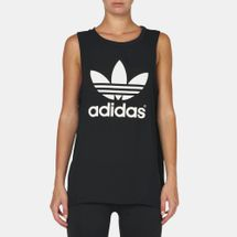 adidas Loose Trefoil Tank Top Black
