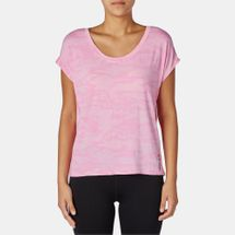 Reebok One Series Breeze Burnout T-Shirt Pink
