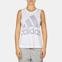 adidas Logo Muscle T-Shirt White