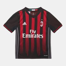 adidas Kids' AC Milan Home Replica Jersey, 251457