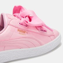 PUMA Kids' Basket Heart Patent Shoe (Baby and Toddler), 1500814