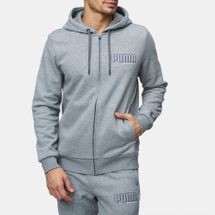 PUMA Style Athletic Full-Zip Hoodie Grey