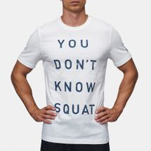 c707265d3 Shop White Reebok Don't Know Squat T-Shirt for Mens by Reebok | SSS