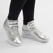 Reebok Freestyle High-Top Metallic Shoe