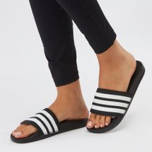 adidas Adilette Cloudfoam Plus Stripes Slides Black