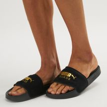 PUMA Leadcat Suede Slide Sandals