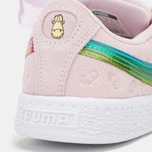 PUMA Kids' Minions Suede Heart Fluffy Shoe, 1252909