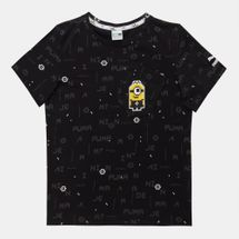 PUMA Kids' Minions T-Shirt Black