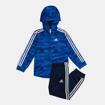 adidas Kids' Shiny Hooded Jogger