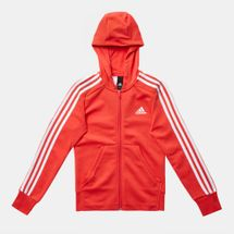 adidas Kids' 3 Stripes Full Zip Hoodie