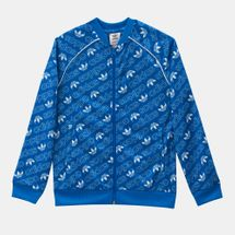 adidas Originals Kids' Trefoil Monogram SST Track Jacket