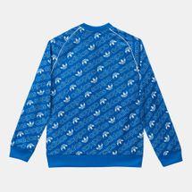 adidas Originals Kids' Trefoil Monogram SST Track Jacket, 1274425