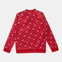 adidas Originals Kids' Trefoil Monogram SST Track Jacket, 1274428