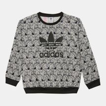 adidas Originals Kids' Zebra Crew Sweatshirt