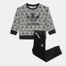 adidas Originals Kids' Zebra Crew Set (Infant)