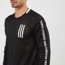 adidas Sport ID 3-Stripes Long Sleeve T-Shirt, 1212781