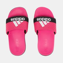 adidas Kids' Adilette Cloudfoam Plus Slides Pink
