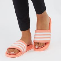 adidas Adilette Cloudfoam Plus Stripes Slides Orange