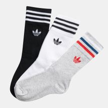 adidas Originals Kids' Trefoil Crew Socks (3 Pairs) (Younger Kids), 1477335