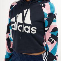 adidas Women's Sport ID Printed Crop Hoodie, 1470383