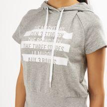 adidas Women's Sport ID Printed Crop Hoodie, 1459166
